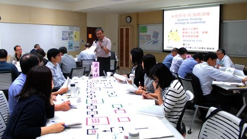 """In the course of """"systemic thinking and strategic leadership""""; trainees are playing the Beer Game."""