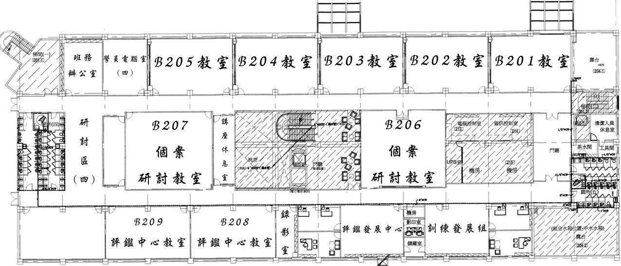 教學大樓2樓平面圖