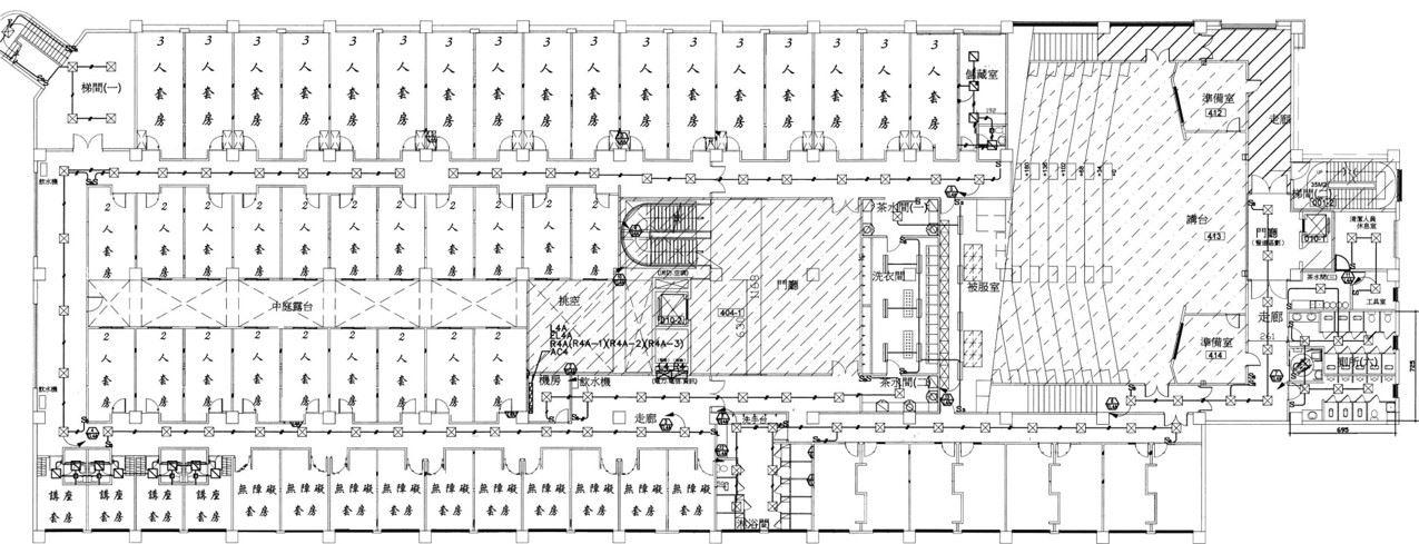 教學大樓4樓平面圖