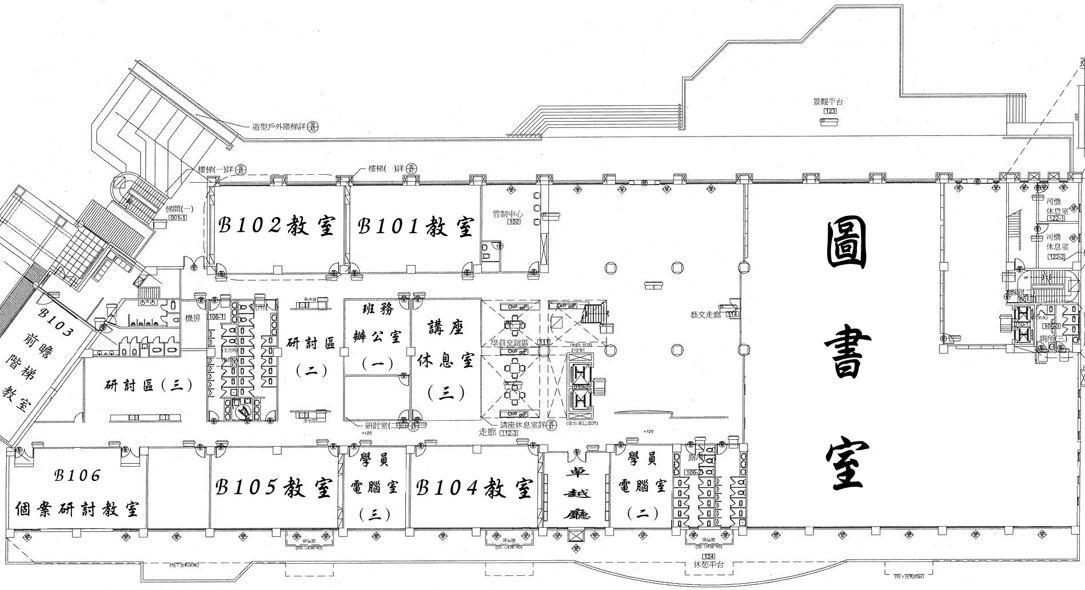 教學大樓1樓平面圖